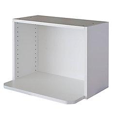 Microwave Cabinet 24 x 17 5/8 Melamine White