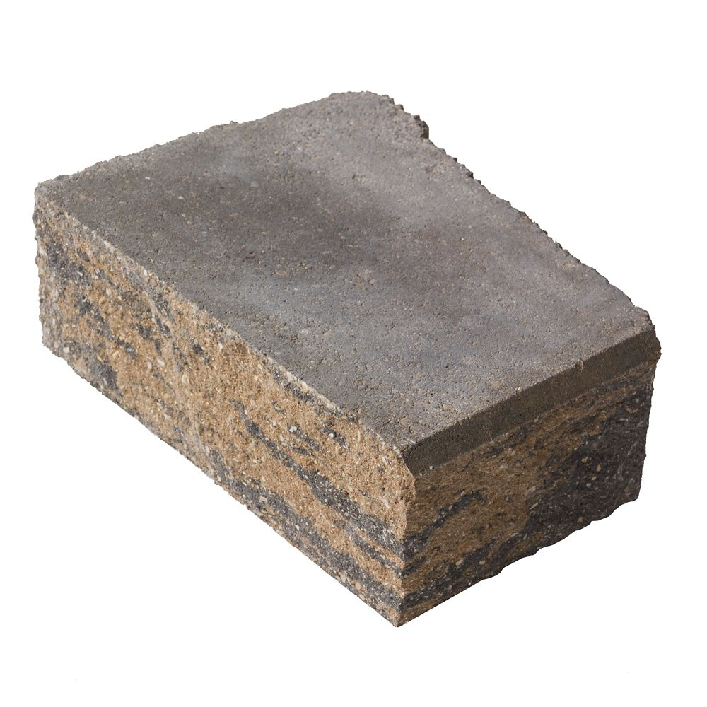 Barkman Stackstone Sierra Grey Advanced Corner Retaining Wall Block