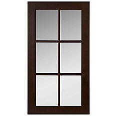 Wood Glass Door Naples 16 1/2 x 30 1/8 Choco