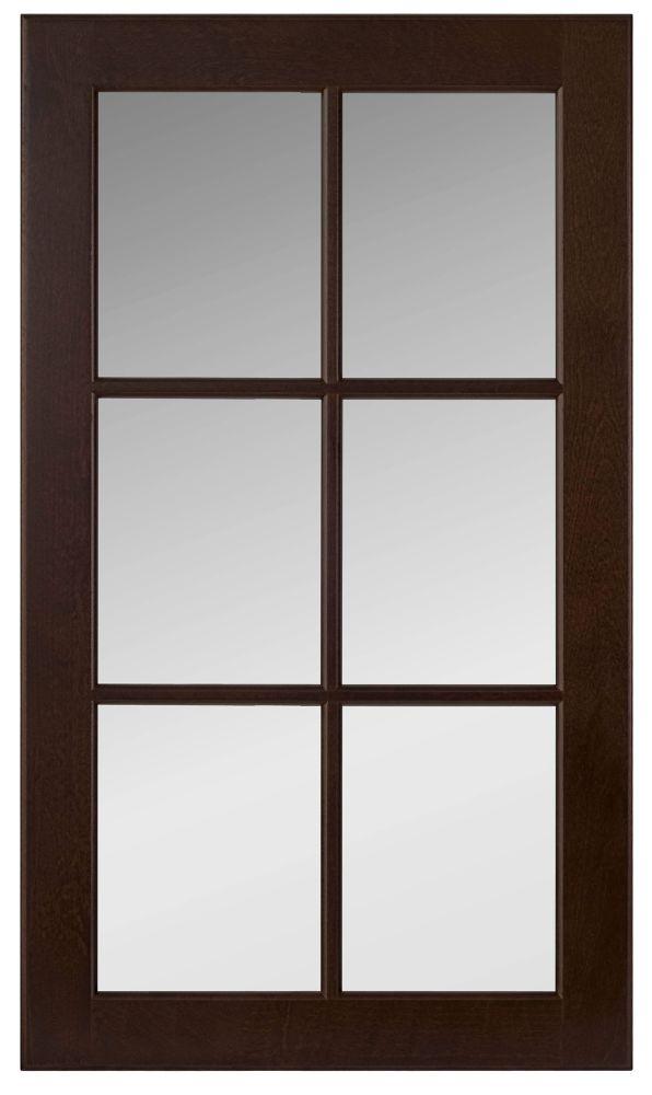 Wood Glass Door Naples 17 3/4 x 30 1/8 Choco
