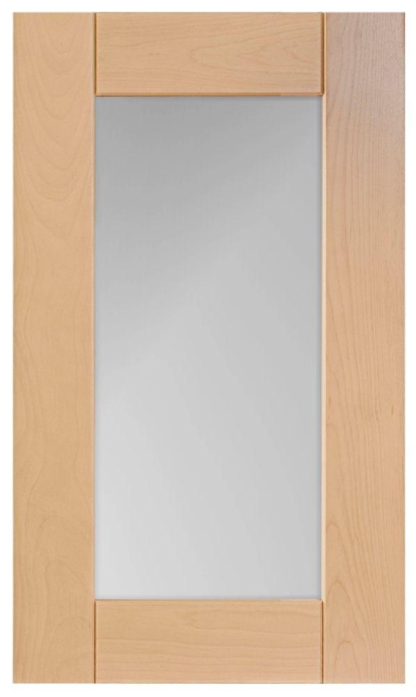 Wood Glass Door Milano 16 1/2 x 30 1/8 Natural
