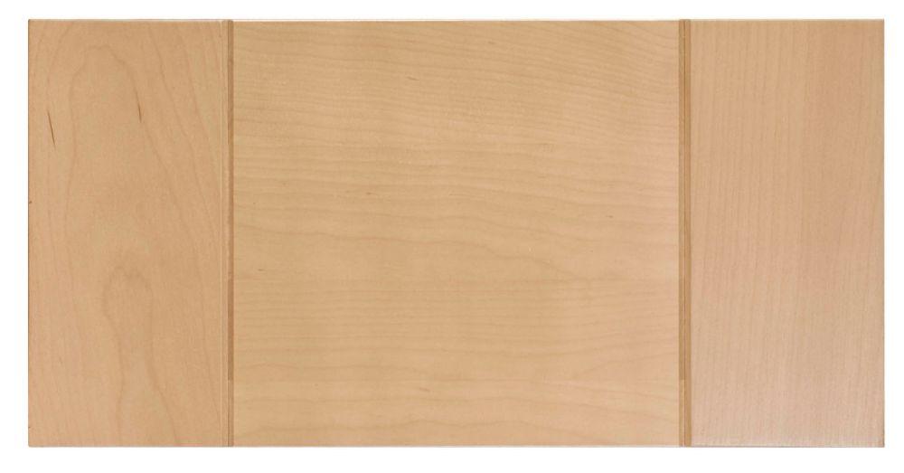 Wood Drawer front Milano 15 x 7 1/2 Natural
