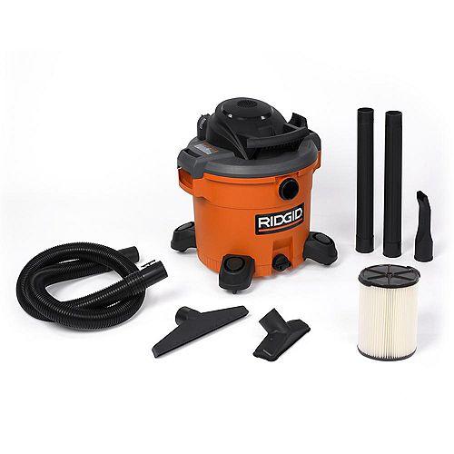 RIDGID Aspirateur sec/humide 45,5 litres (12 gal), 5 HP crête