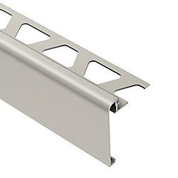 Schluter Moulure de réduction pour carreaux, aluminium anodisé finition nickel brossé Reno-U
