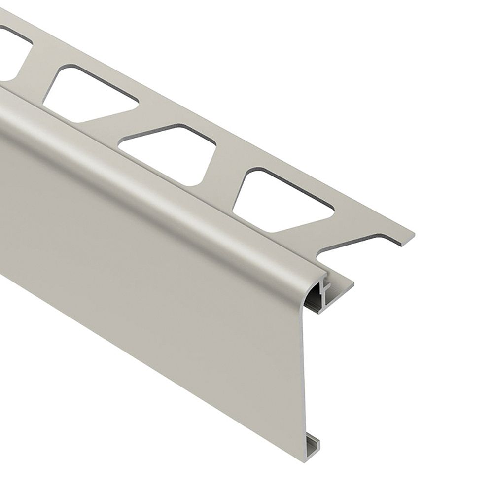 Schluter Moulure de réduction pour carreaux, aluminium anodisé finition nickel brossé Reno-U