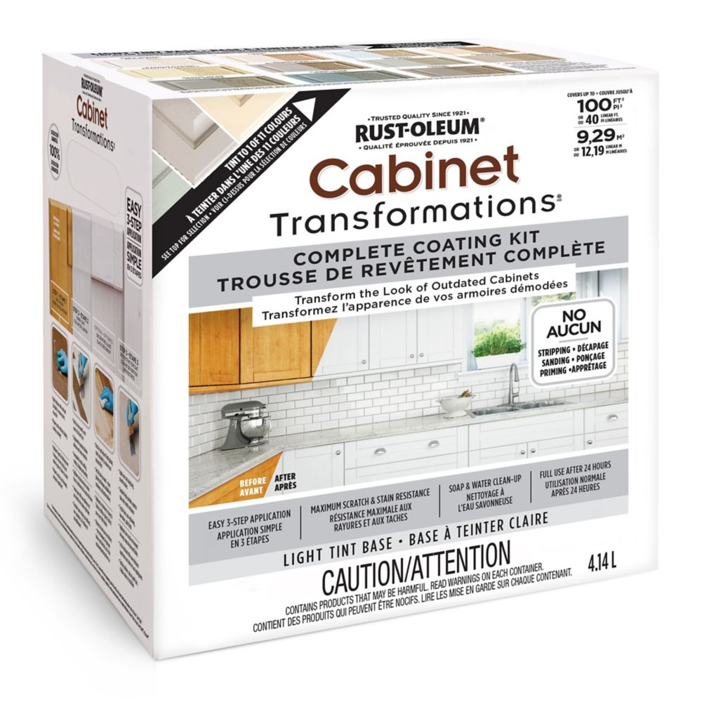 The Home Depot Installed Cabinet Refacing Wood Stained: Rust-Oleum Cabinet Transformations Light Kit