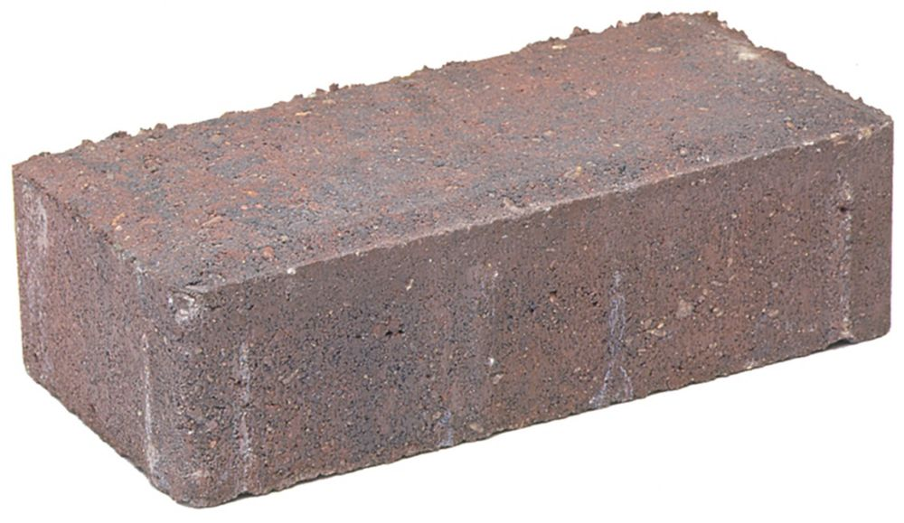 Pavé Brickstone - Fini antique- Rouge/Charbon