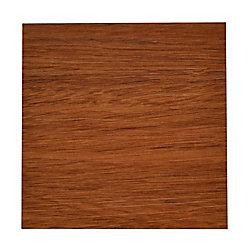 Allure Échantillon - Planche, bois massif, 4 po x 8 po, Plank Sapelli rouge