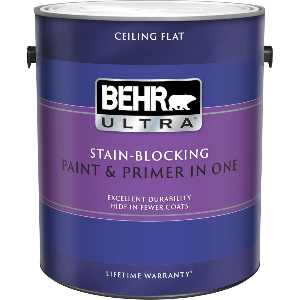 Stain-Blocking Ceiling Paint & Primer in One, 3.79 L