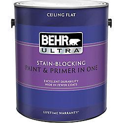 Behr Premium Plus Ultra Stain-Blocking Ceiling Paint & Primer in One, 3.79 L