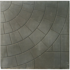Patio Slab - 24x24 - Circlefaced Charcoal