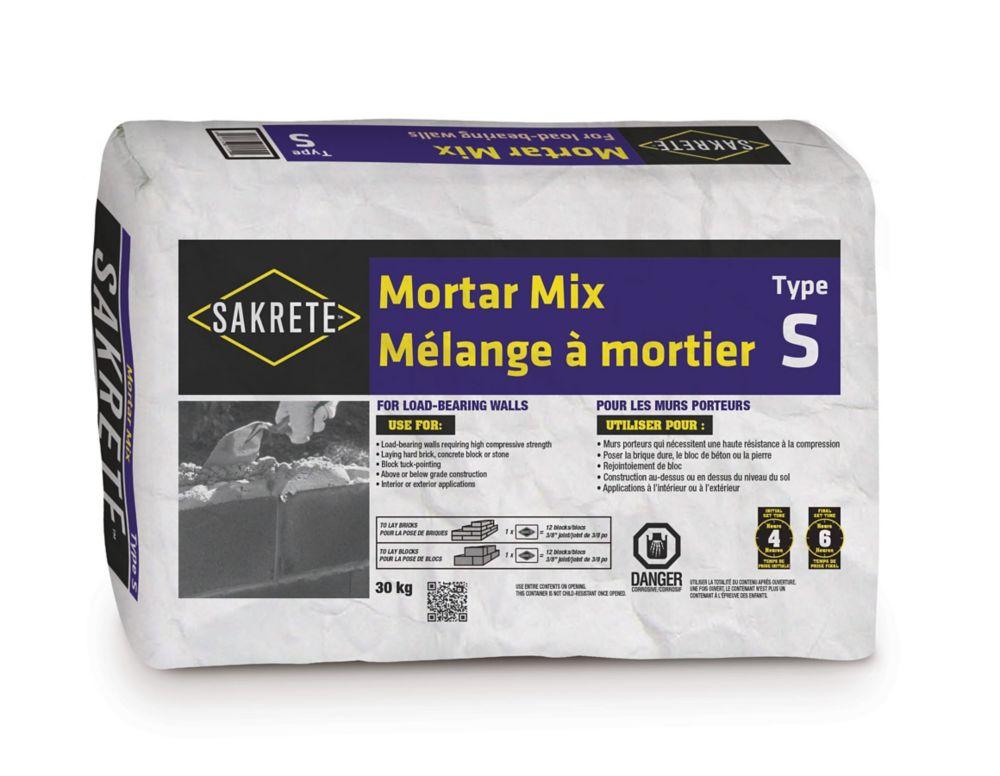 SAKRETE Mélange à mortier, type S, 30 kg