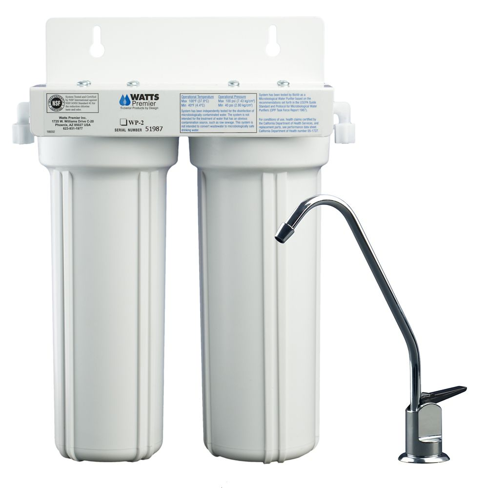 2-Stage LCV water Filtration System (Lead, Cyst, VOCs)