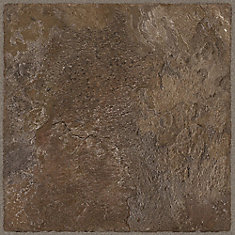 12 in. x 36 in. Chocolate Luxury Vinyl Tile Flooring (Sample)
