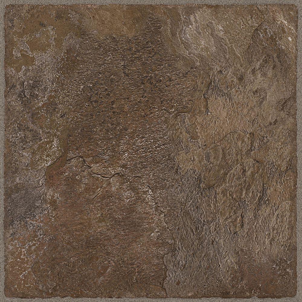 Allure, Chocolate Resilient Vinyl Tile - Flooring Sample 4 Inch x 8 Inch
