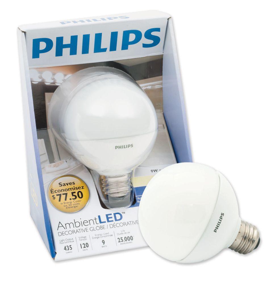 LED 9W G25 Globe Soft White