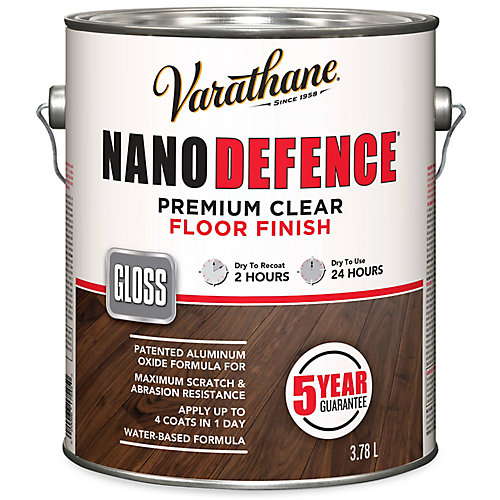 Nano Defence Premium Clear Floor Finish In Gloss Clear, 3.78 L