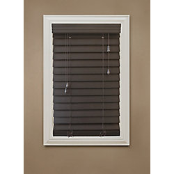 "Home Decorators Collection 54 in. x 48 in. Espresso 2.5"" Premium Faux Wood Blind"
