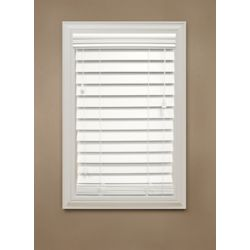 "Home Decorators Collection 54 in. x 48 in. White 2.5"" Premium Faux Wood Blind"