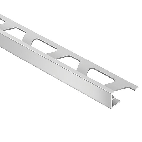 Jolly Satin Nickel Anodized Aluminum 1/2-inch x 8 ft. 2-1/2-inch Metal Tile Edging Trim