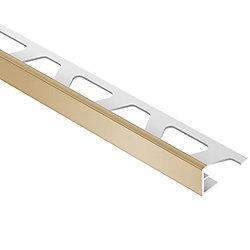 Schluter Moulure en L pour carreaux 0,8cmx 2,50m (5/16pox 8pi21/2po), PVC beige pâle Jolly
