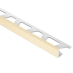 Schluter Moulure en L pour carreaux 1cmx 2,50m (3/8pox 8pi21/2po), PVC sable Jolly
