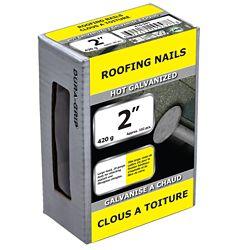 Paulin Clous à toiture de 2 po galvanisés à chaud - 420 g (environ 102 pièces par paquet)