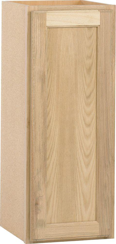 Cabinet de mur non fini du chêne 12X30