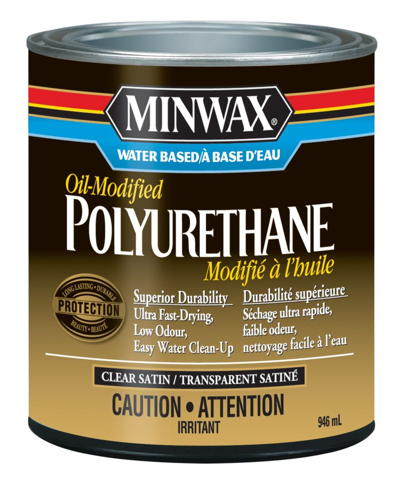 Minwax Waterbased Oil Modified Poly Satin The Home Depot