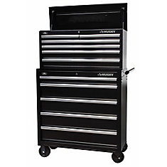 36 inch Black 11-Drawer Tool Chest & Cabinet Set