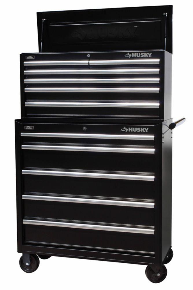 HUSKY Husky 36 inch Black 11-Drawer Tool Chest & Cabinet Set
