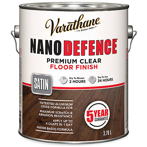 Nano Defence Premium Clear Floor Finish In Satin Clear, 3.78 L