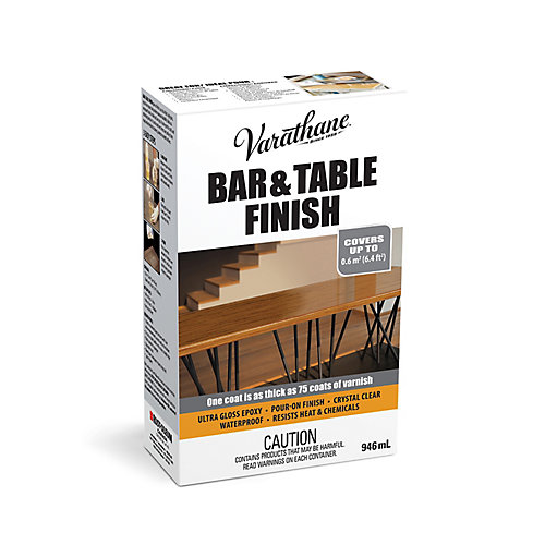 Bar & Table Finish Ultra Thick Pour-On Epoxy In Ultra Gloss Clear, 946 mL