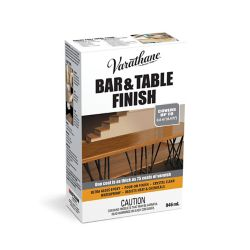 Varathane Bar & Table Ultra Thick Clear Gloss Epoxy Pour-On Wood Finish and Preservative Kit 946mL