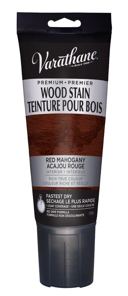 Varathane Teinture Pour Bois Premier Acajou rouge 177ml