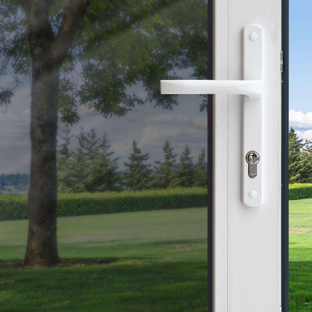 Pellicule pour fenêtre de contrôle de chaleur de couleur titane «peler et coller» de 91 cm x 198 ...