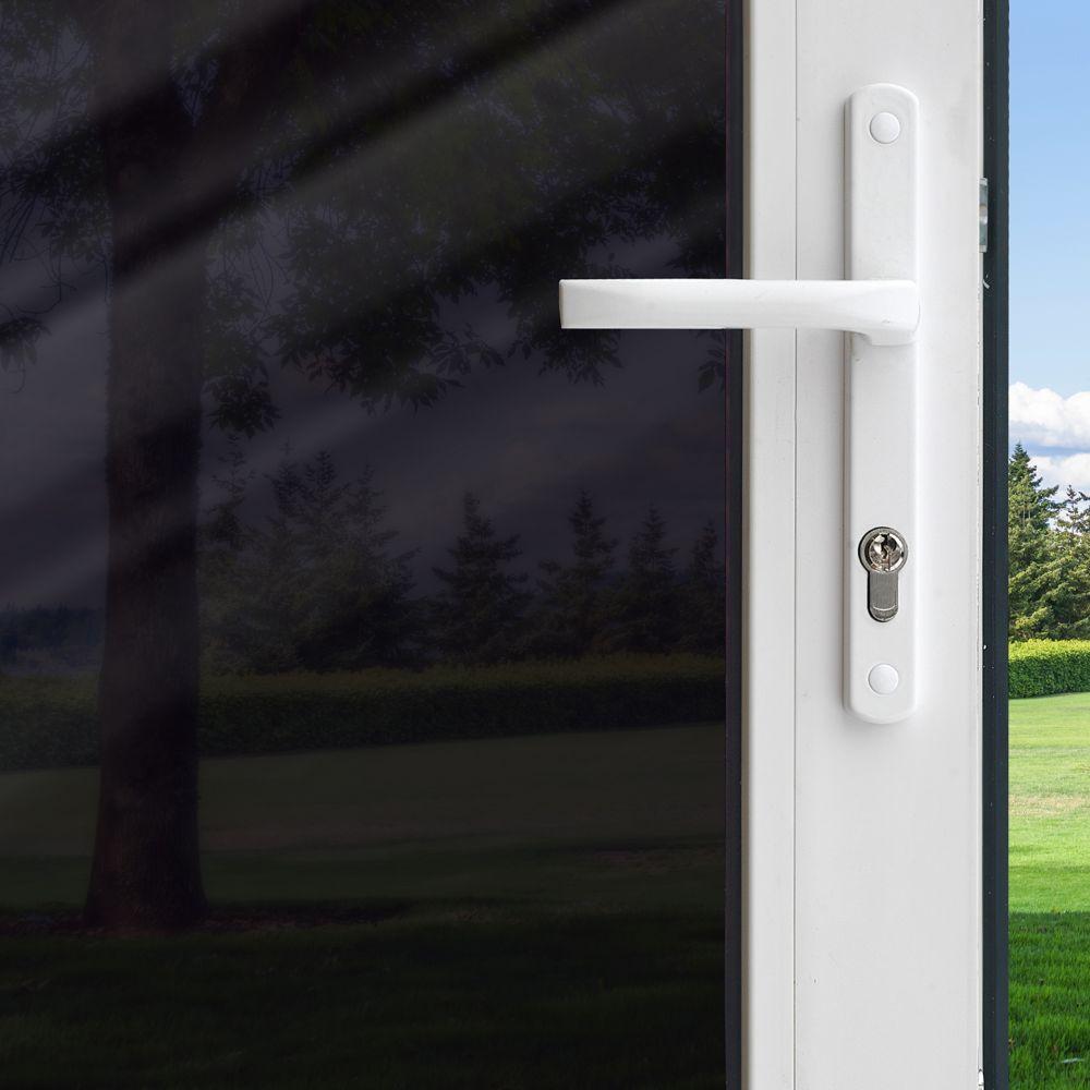 Pellicule Intimité pour fenêtre - Noir 3 pi x 6,5 pi