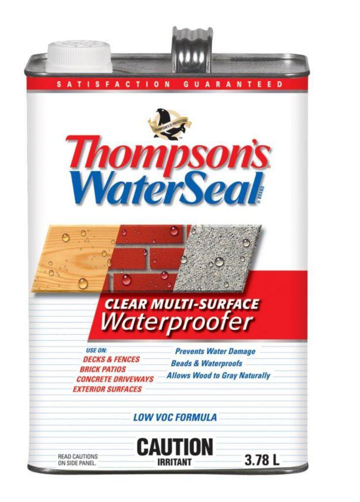 Imperméabilisant  transparent pour Surfaces Multiples Thompsons WaterSeal Faible en COV