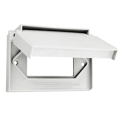 Leviton Decora Single Gang Weather-Resistant Horizontal wall plate w/Cover, White