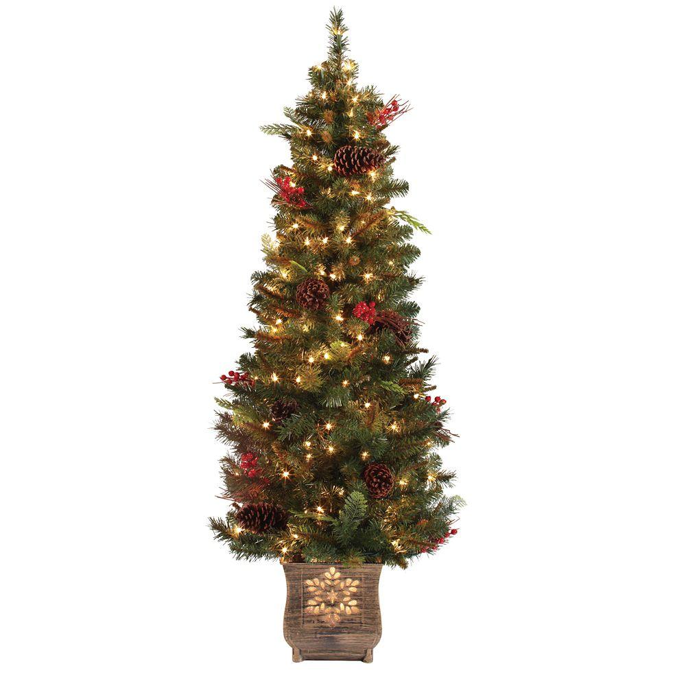 Arbre de Noël Hawkins pour entrée, 1,4 m (4,5 pi)