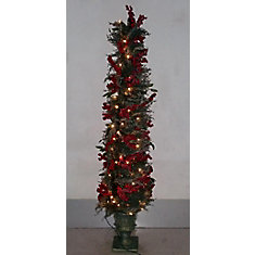 Pre-Lit Potted Tree - 5 ft