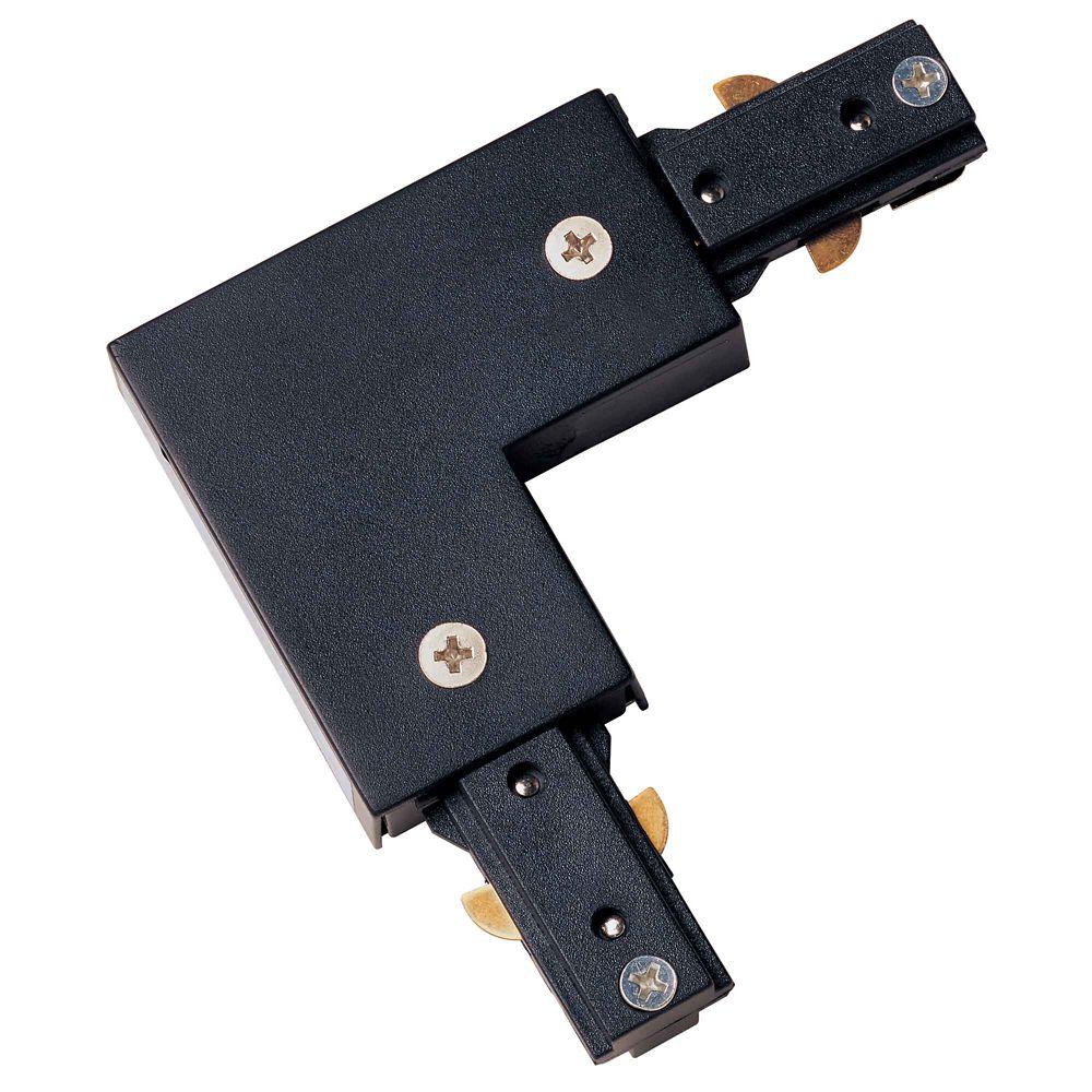 Connecteur universel à angle droit, fini noir