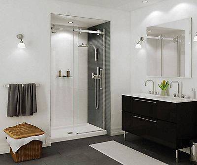 of depot door frame replacing shower home image doors change