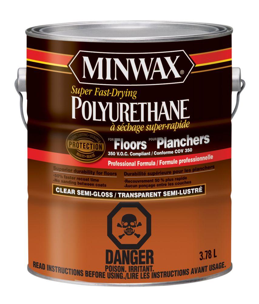 Polyurethane pour planchers, S/G, 3,78 L