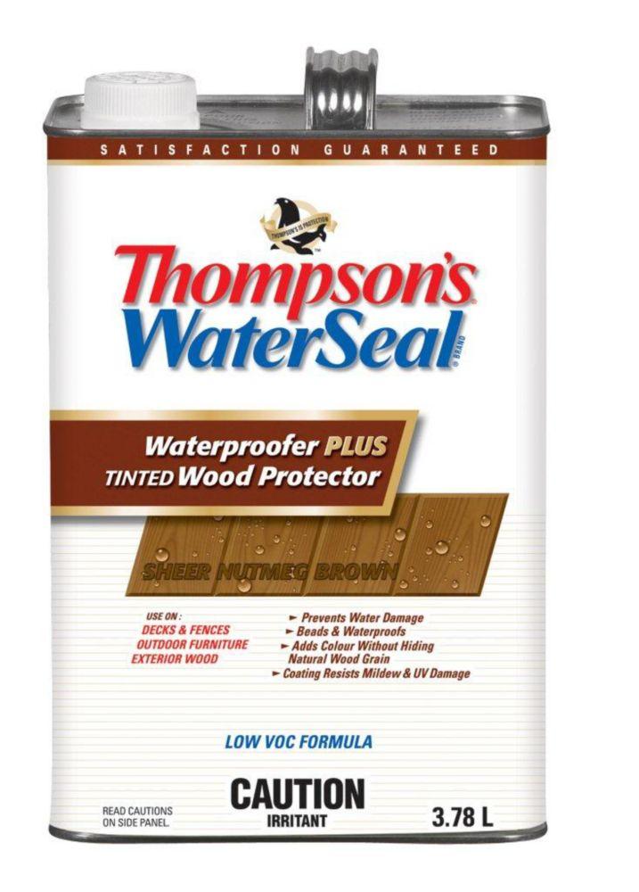 Imperméabilisant PLUS protecteur pour bois teinté Thompsons WaterSeal Faible en COV - Brun Muscad...