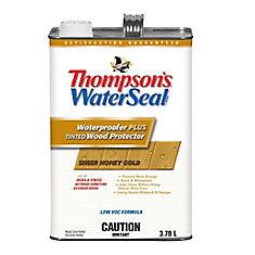 Imperméabilisant PLUS protecteur pour bois teinté Thompsons WaterSeal Faible en COV - Or miel