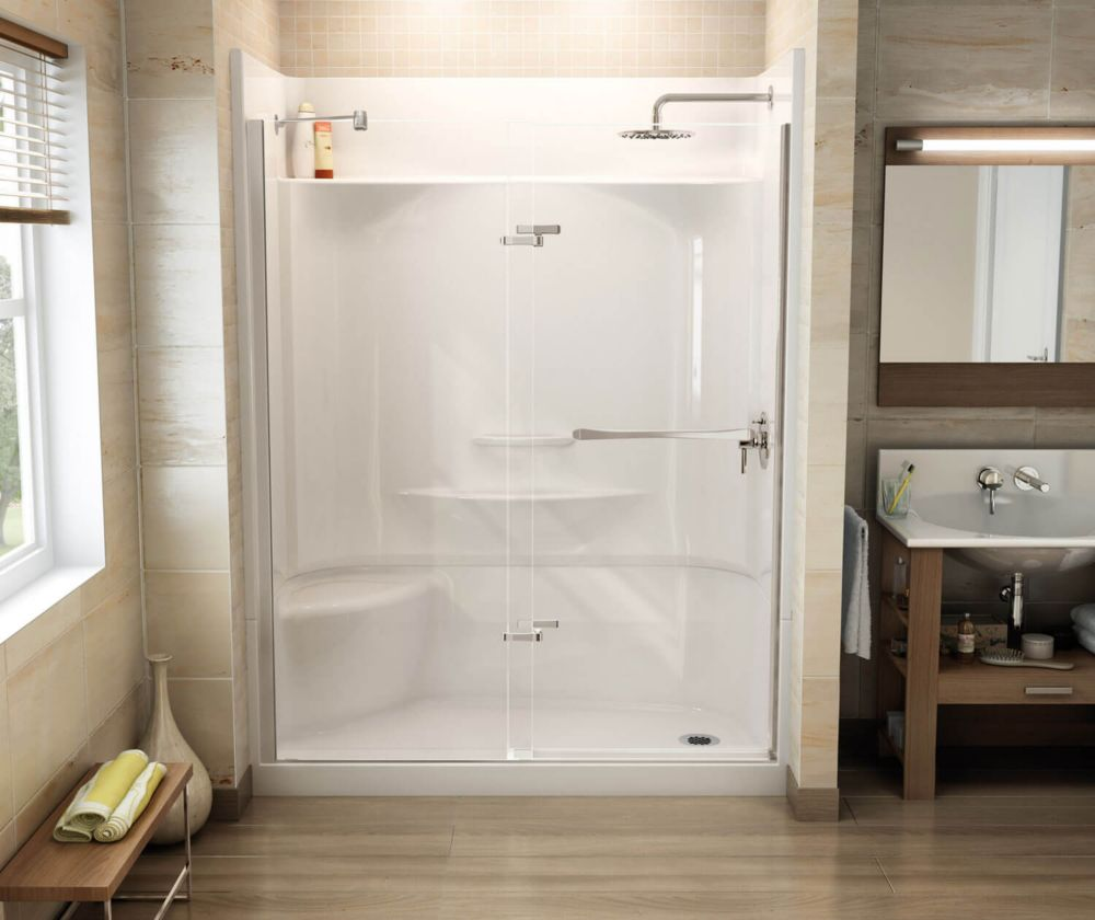 MAAX Insight Pivot Shower Door 31 1/2 - 33 1/2 Inches | The Home ...