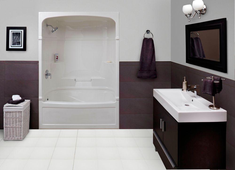 Empire - Douche et bain-tourbillon 3 pièces en acrylique - 60 pouces - Gauche