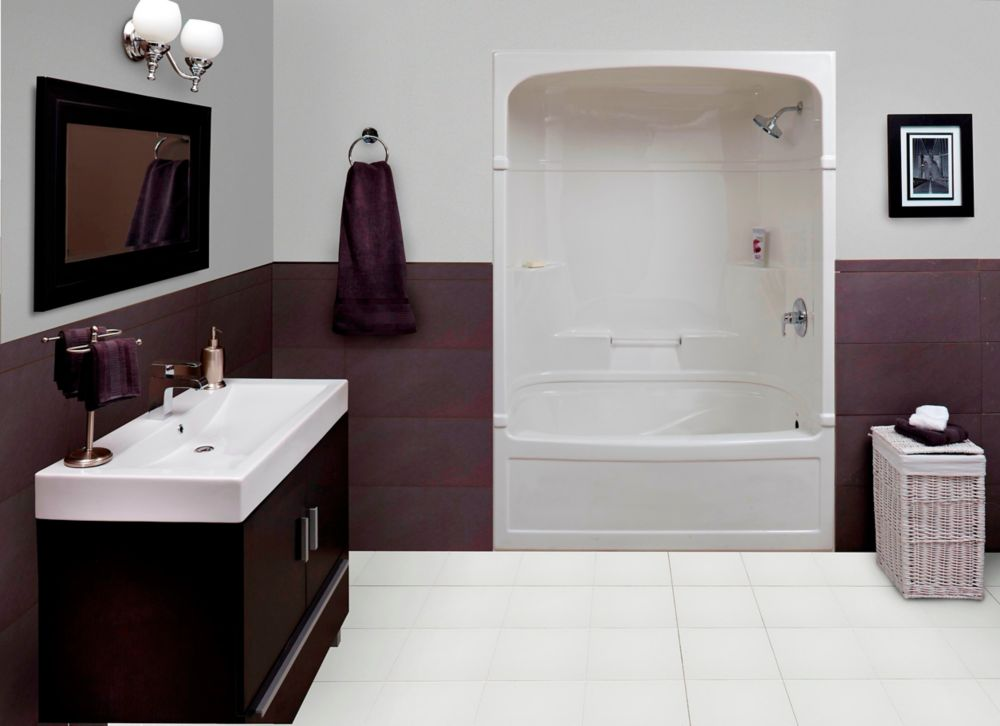 Empire 60 Inch 3-piece Acrylic Tub And Shower Whirlpool- Right Hand