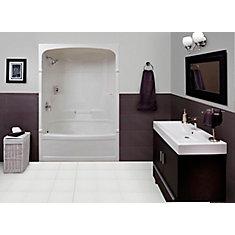 Empire 59.5-inch x 86.25-inch x 32-inch 4-shelf Acrylic 3-Piece Left Hand Drain Tub & Shower